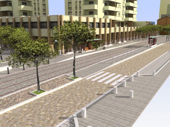 Metrotranvia arredo urbano for Un arredo urbano