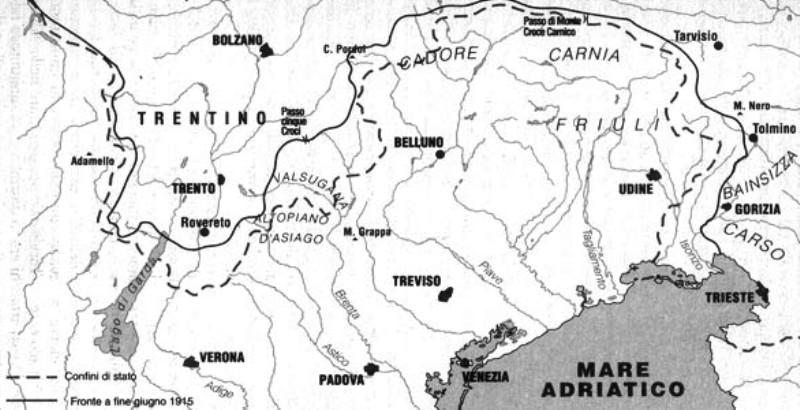 Cartina D Italia 1915.Le Pietre Raccontano